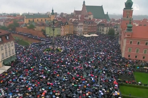 Polish protest Across Europe Against Near-Total Ban on Abortion