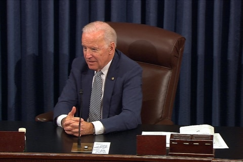 Senators Unite to Give Joe Biden a Moving Farewell