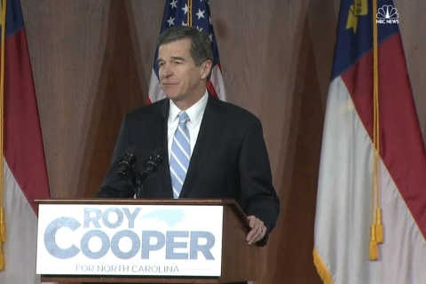 North Carolina Governor-Elect Cooper Holds Victory Rally