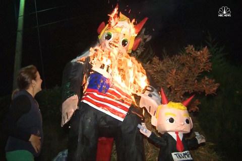 Trump 'Devils' Burned to Drive Away Bad Spirits
