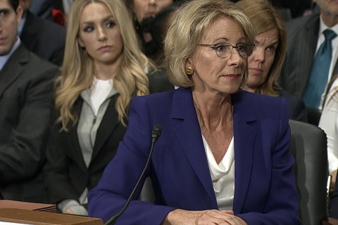 Betsy DeVos Discusses Role on Board of Mother's Non-Profit