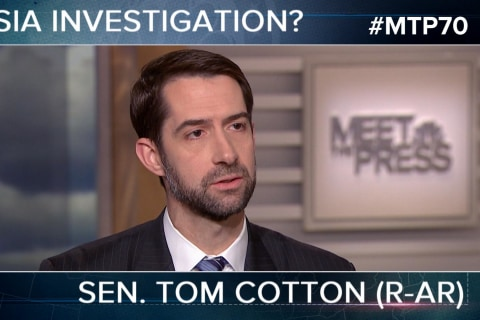 Sen. Cotton: Don't Give Credit to Anonymous Sources
