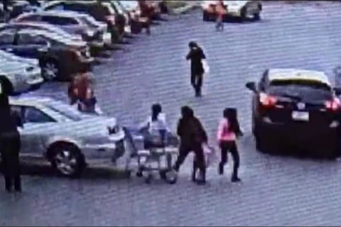 Group Hit by Car in Apparent Case of 'Parking Lot Rage' Caught on Video