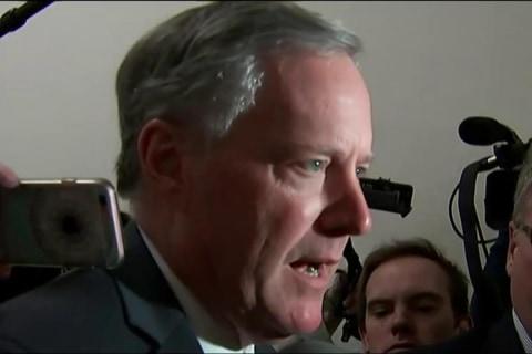 House Conservatives Talk After Trump Health Bill Meeting