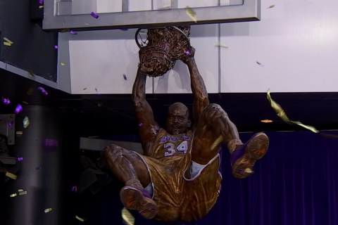 Shaq Statue Unveiled at Staples Center