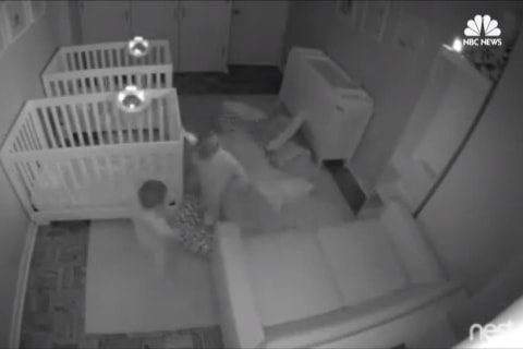 Twin Toddlers' Overnight Circus Caught on Camera