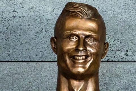 Soccer Star Ronaldo's Odd Statue Turns Heads