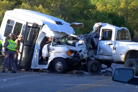 Horrific Texas church bus crash kills at least 13