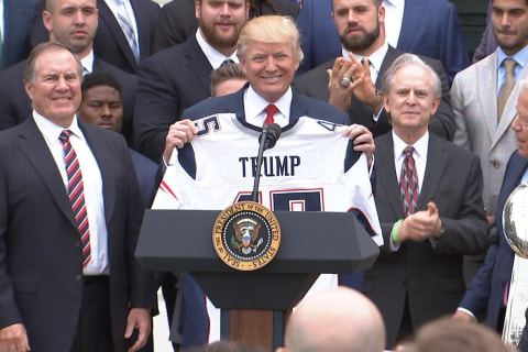 Trump Honors New England Patriots at White House Ceremony