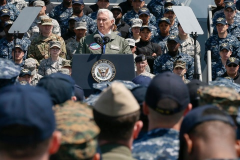 U.S. Will Meet Any Nukes With ''Overwhelming' Response, VP Pence Says