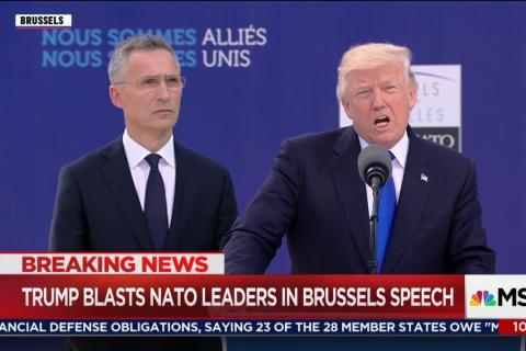 Stone-Faced World Leaders Listen as Trump Blasts NATO Allies