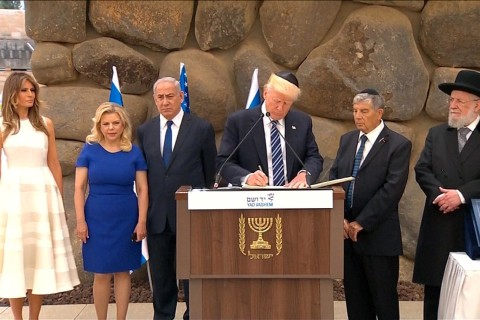 Trump Pays Respects at Israel's Holocaust Memorial and Museum