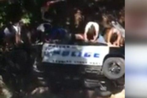 Officer Rescued After Squad Car Lands in Creek