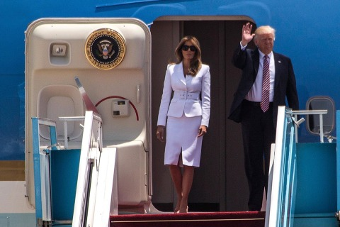 President Trump arrives in Tel Aviv, urges peace in Middle East