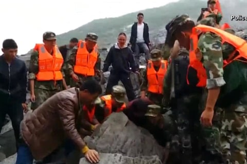 Massive Landslide Buries at Least 100 in China