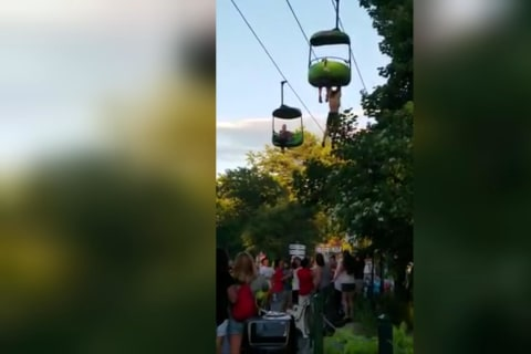 Teen Makes 25-Foot Fall From Amusement Park Ride