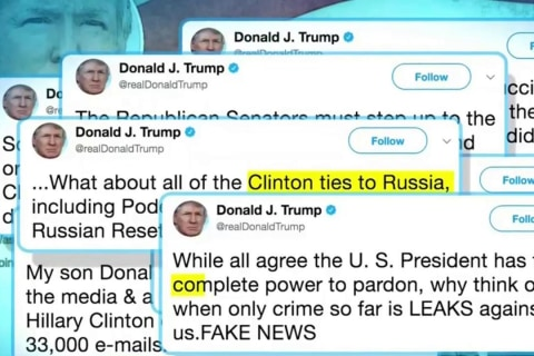 Trump Claims 'Complete Power to Pardon' in Tweetstorm