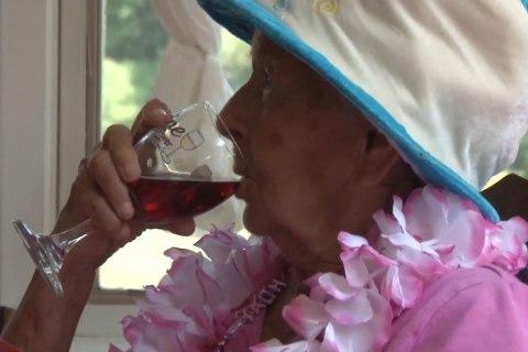 Woman Celebrates 100th Birthday Says, Wine is Secret to Longevity