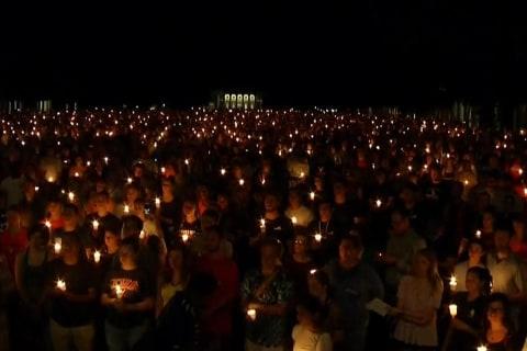 Hundreds Gather for Candlelight Vigil in Charlottesville