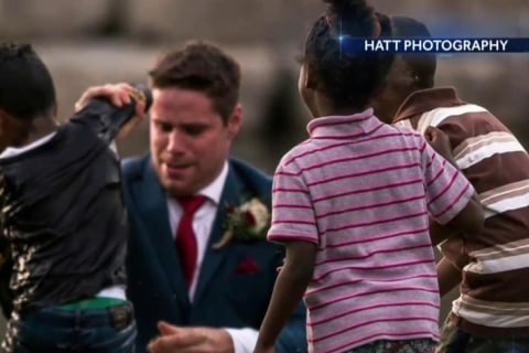 Groom Saves Young Boy From Drowning During Wedding Shoot