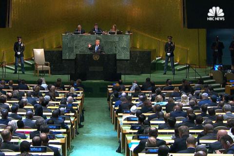At U.N., Trump Blasts 'Rogue Regimes' of North Korea, Iran and Syria