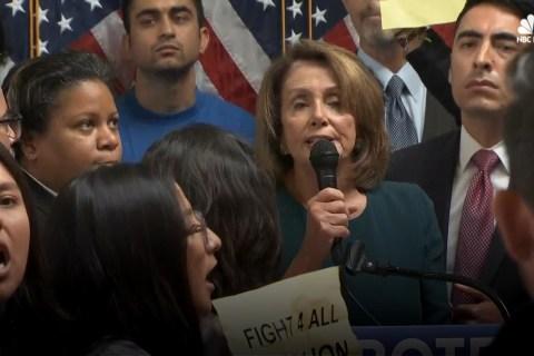 Watch Protesters Interrupt Nancy Pelosi at Pro-DACA Event