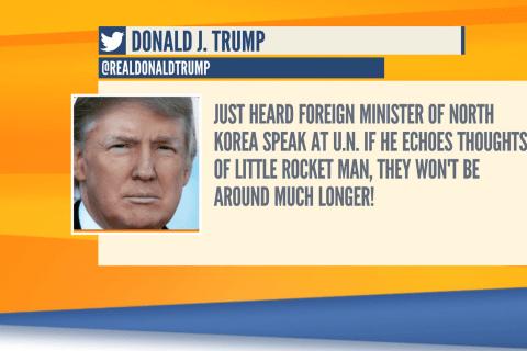 Donald Trump taunts North Korea with threatening tweet