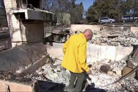 CA Wildfires: Couple Awakes to Leaping Flames