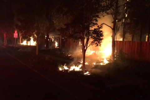 Firefighter Video Shows Santa Rosa, California Neighborhoods Engulfed by Wildfires