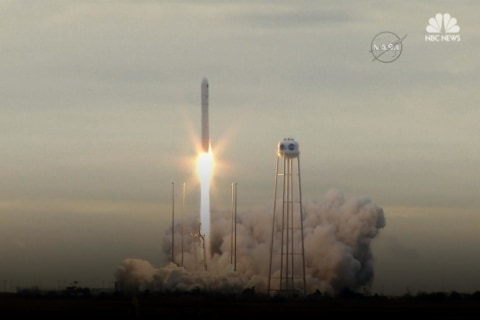 NASA Launches 7,400 Pounds Of Supplies Into Space