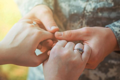 How military personnel get married without actually being there