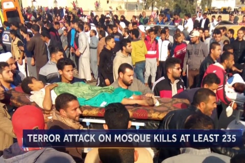 Over 200 killed in terror attack on Egyptian mosque
