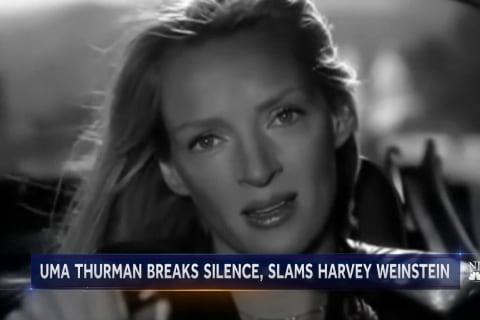 Uma Thurman breaks silence and slams Harvey Weinstein