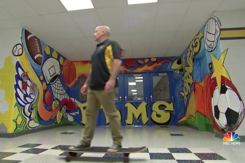 Skateboarding principal takes new approach to motivate students