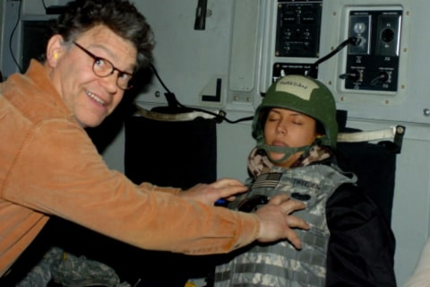 Al Franken apologizes for kissing and groping woman without consent