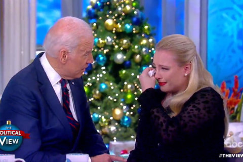 Watch Joe Biden console Meghan McCain about her father's cancer battle