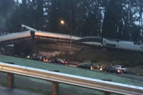 Train derailment eyewitness: 'Our car went down an embankment'