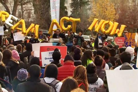 Watch thousands of immigrants rally for Dream Act in Washington
