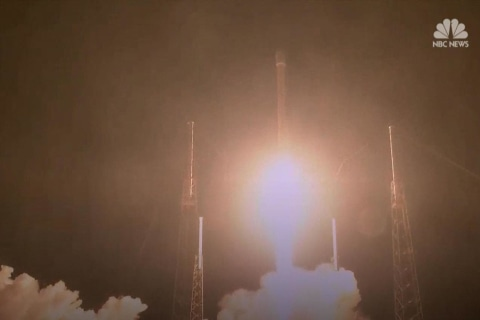 Watch as SpaceX launches a rocket