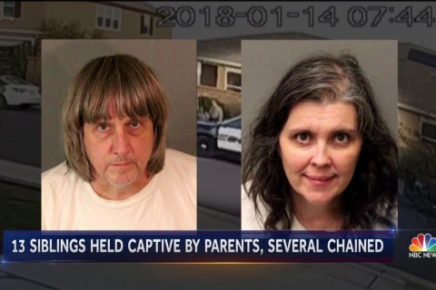 California couple arrested for shackling their 13 children to furniture