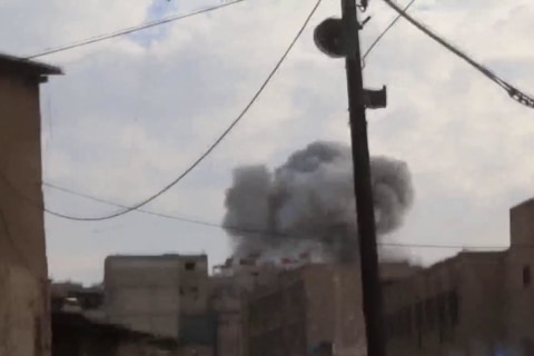 Syrian government intensifies bombing campaign on Damascus suburb