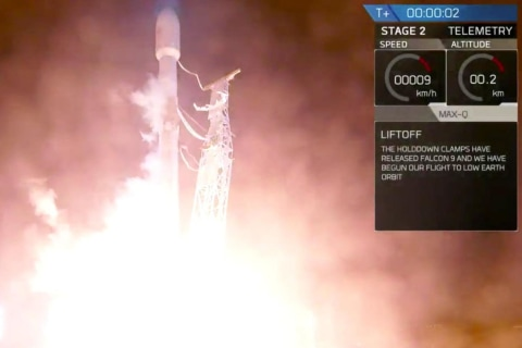 SpaceX launches rocket carrying satellite into space