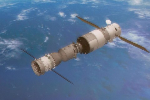 Where will free-falling space station land on Earth?