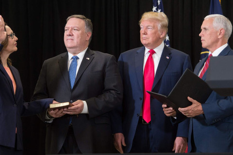 Trump praises Haspel, thanks CIA officers at swearing-in ceremony