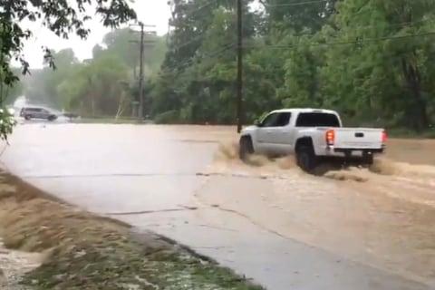 Dangerous flash floods rush through Maryland