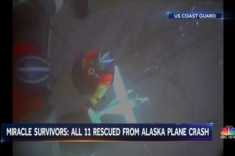 Alaska plane crash: 'Incredible' no one was killed, coast guard says