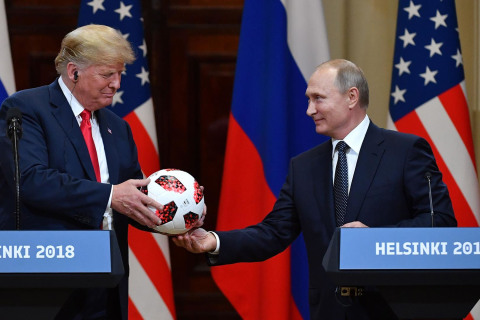 Putin gifts Trump a World Cup ball: 'Now the ball is in your court'