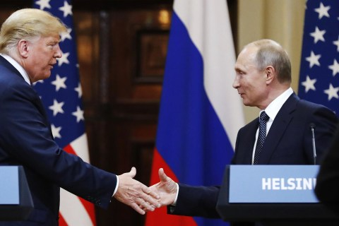 Instead of pressing Putin on meddling, Trump calls for Clinton, DNC servers