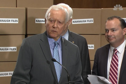 Orrin Hatch: Democrat vetting on Kavanaugh 'partisan,' 'dumbass'