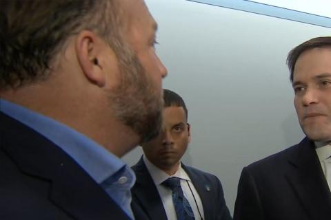 Alex Jones confronts Sen. Marco Rubio at Senate hearing